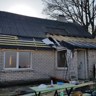 jumta konstrukciju maiņa