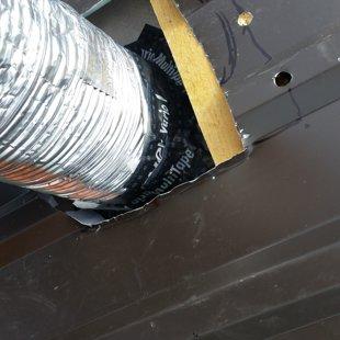 ventilācijas gofras iestrāde
