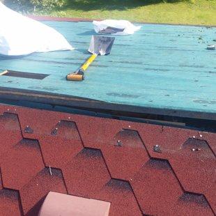 vecā seguma demontāža, lai var nolikt vietā noslīdējušās spāres un pareizi nostiprināt