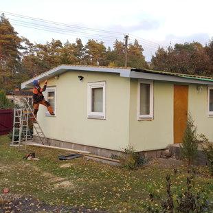 jumta kastes montāža, otreiz krāsošana